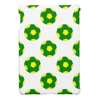 Green and Yellow Soccer Ball Pattern iPad Mini Case