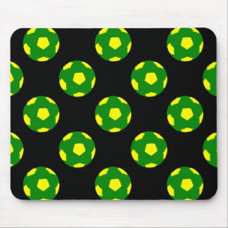 Green and Yellow Soccer Ball Pattern Mouse Pad