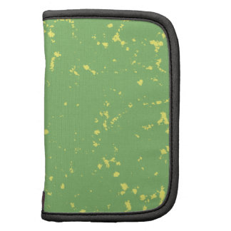 Green and yellow specks folio planners