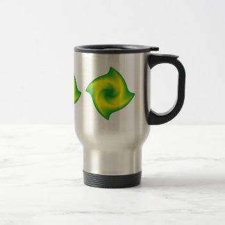 Green and Yellow Spiral Travel Mug