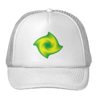 Green and Yellow Spiral Trucker Hat