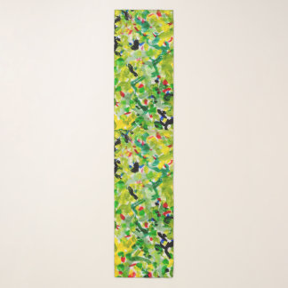 Green and yellow spring scarf