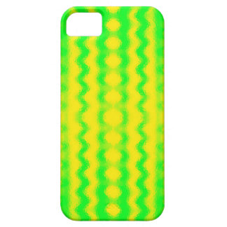 Green and Yellow Squiggles iPhone SE/5/5s Case