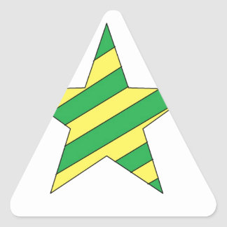 green and yellow star triangle sticker