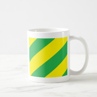 Green and Yellow Stripes Coffee Mug