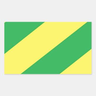 Green and Yellow Stripes Rectangular Sticker