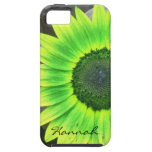 Green and Yellow Sunflower iPhone 5 Case
