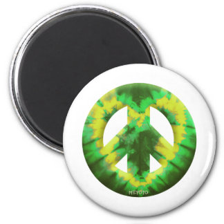 Green and Yellow Tie Dye Fridge Magnet