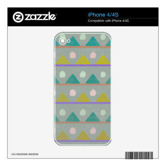 Green and yellow triangle geometric pattern iPhone 4S skins