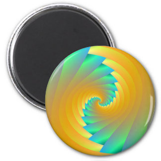 Green and Yellow Twister  Magnet