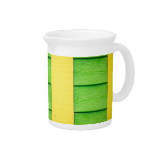 Green and Yellow Wooden Siding Drink Pitcher