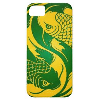 Green and Yellow Yin Yang Koi Fish iPhone SE/5/5s Case