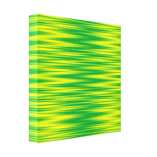 Green and Yellow Zig Zag Canvas Print