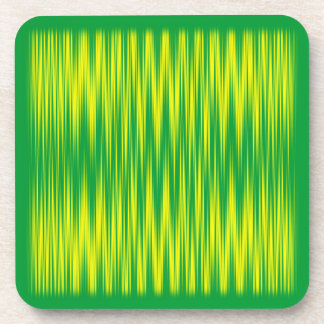 Green and Yellow Zig Zag Drink Coasters