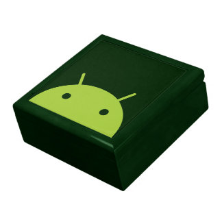 Green Android Head Gift Box