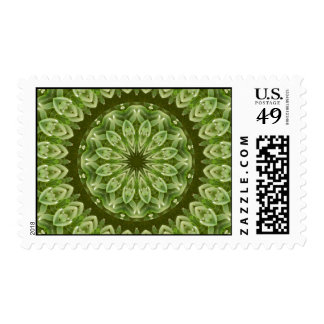 Green Anemone Mandala 2 Postage