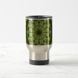 Green Anemone Mandala 2 Travel Mug