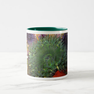 Green Anemone Two-Tone Coffee Mug
