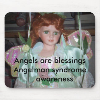 green angel 2 Angels are blessingsAngelman syn Mouse Pads