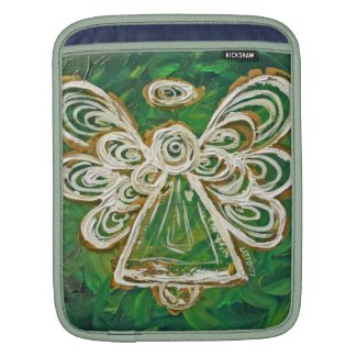 Green Angel Art Painting iPad Computer Sleeves
