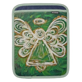 Green Angel Art Painting iPad Computer Sleeves iPad Sleeves