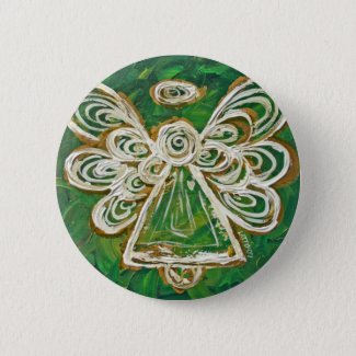 Green Angel Buttons or Pins