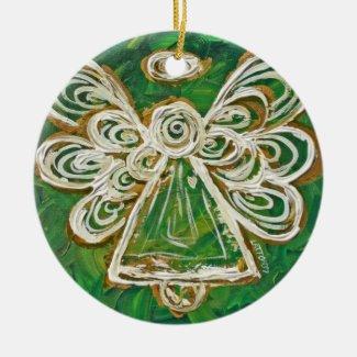 Green Angel Ornament