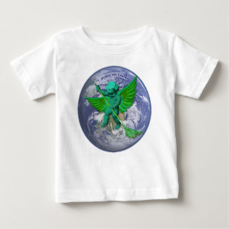 Green Angel Peace On Earth Baby T-Shirt
