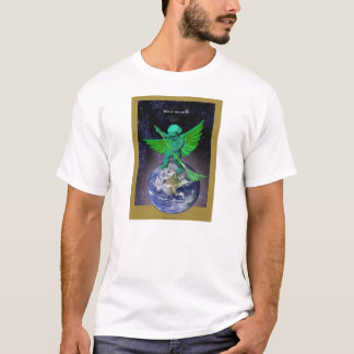 Green Angel Peace on Earth t-shirt