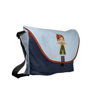 Green Angel Pixel Art Courier Bag