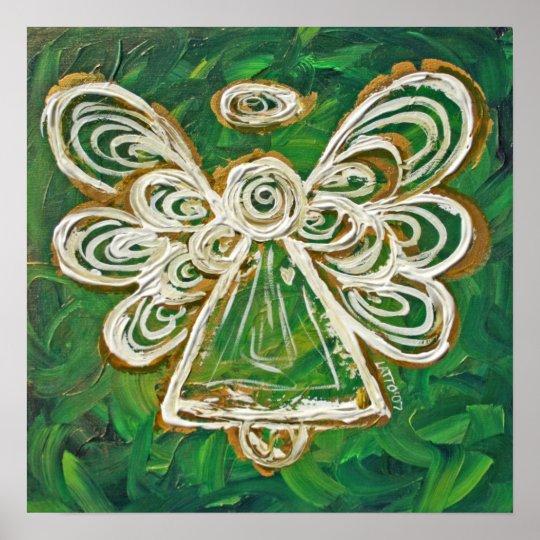 Green Angel Poster Print