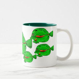 Green Angelfish Ceramic  Mug
