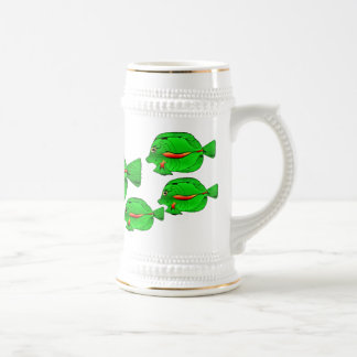 Green Angelfish Silver Banded Stein