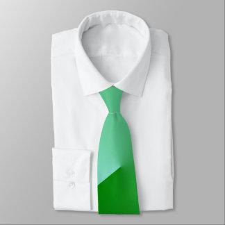 Green angle neck tie