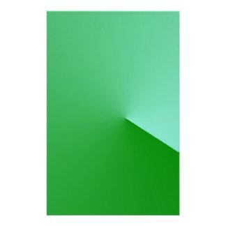 Green angle stationery design