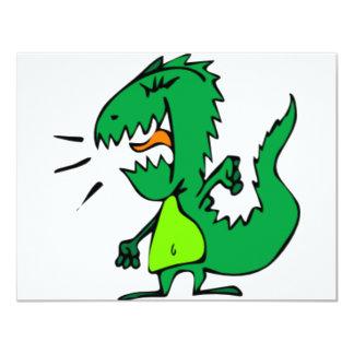 Green Angry Dinosaur Card