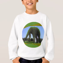 Green Animal Design in Park Sweatshirt