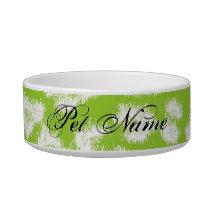 Green animal print fur of leopard bowl