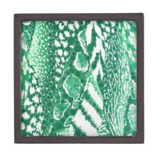 Green Animal Print Premium Jewelry Boxes