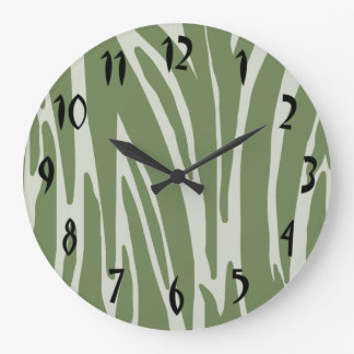 Green Animal Print Wall Clock