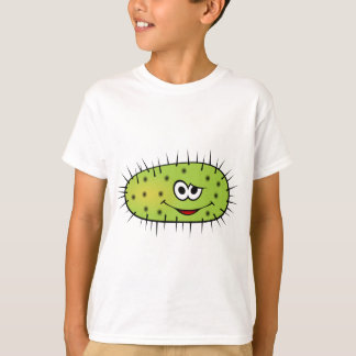 Green animated happy smiling bacteria T-Shirt
