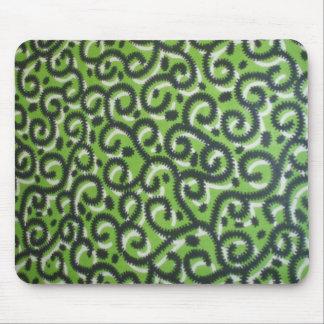 Green Ankara Mouse Pad