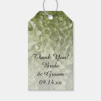 Green Annabelle Hydrangea Floral Wedding Favor Tag