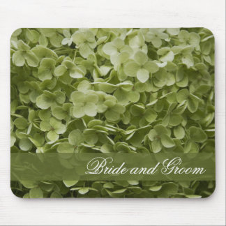 Green Annabelle Hydrangea Floral Wedding Mouse Pad