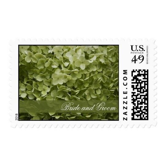 Green Annabelle Hydrangea Floral Wedding Postage