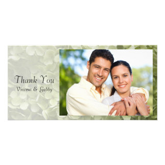 Green Annabelle Hydrangea Flower Thank You Card