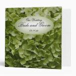 Green Annabelle Hydrangea Flower Wedding 3 Ring Binder