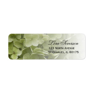Green Annabelle Hydrangea Return Address Labels