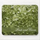 Green Annabelle Hydrangea Wedding Mousepad