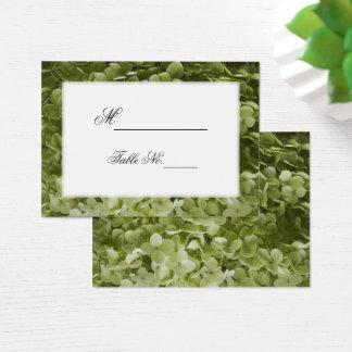 Green Annabelle Hydrangea Wedding Place Cards